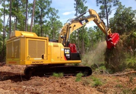 Cat Excavator Mulcher