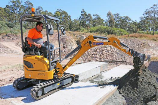 XCMG-XE17U-Mini-Excavator-Hire-Rental-9
